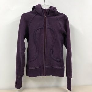 Lululemon Scuba Purple Zip Up Thick Hooded Jacket
